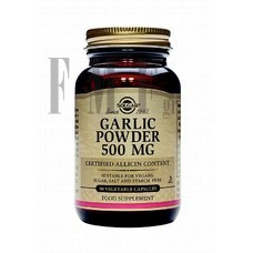 SOLGAR Garlic Powder 500mg - 90 Caps.