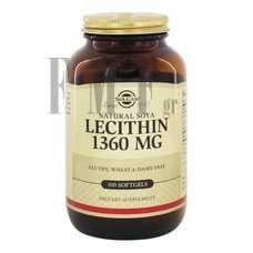 SOLGAR Lecithin 1360 mg. - 100 Tabs.