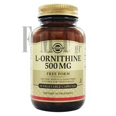 SOLGAR L-Ornithine 500mg - 50 Caps.