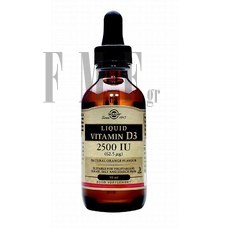 SOLGAR Vitamin D-3 2500 IU Liquid - 59ml.