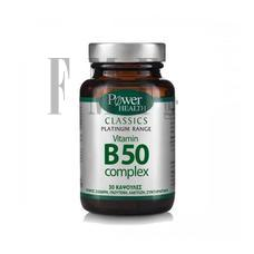 POWER HEALTH Platinum Range Vitamin B50 Complex - 30 Caps.