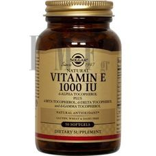 SOLGAR Vitamin E Natural softgels 1000 IU - 50 Caps.