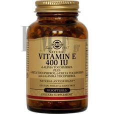 SOLGAR Vitamin E Natural softgels 400 IU - 50 Caps.