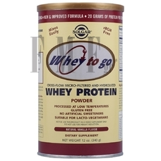 SOLGAR Whey to Go Protein Powder Βανίλια - 340 gr.