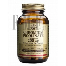 SOLGAR Chromium Picolinate 200mg - 90 Tabs.