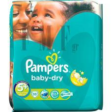 PAMPERS Baby Dry Jynior No5+ (13 -27 Kg) - 35 τεμ.