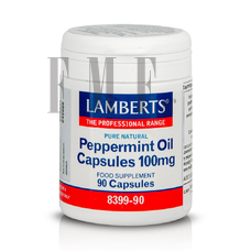 LAMBERTS Peppermint Oil Capsules 100mg - 90 Caps.