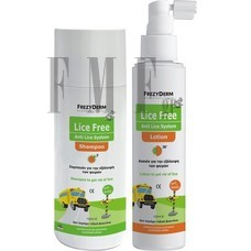 FREZYDERM Lice Free Set - Shampoo 125ml + Lotion 125ml + Χτένα.