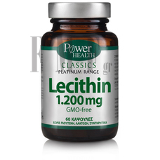 POWER HEALTH Platinum Range Lecithin 1.200mg - 60 Caps.