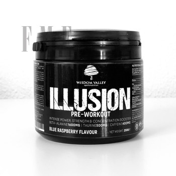 Wisdom Valley's ILLUSION pre workout 250g Blue Rasberry