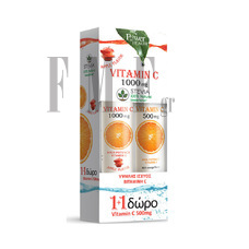POWER HEALTH Vitamin C 1000mg με 100% Στέβια - 24 Tabs + ΔΩΡΟ Vitamin C 500mg 20 Tabs.