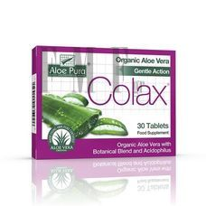 OPTIMA Aloe Vera Colax Colon Cleanse Tablets - 30 Tabs