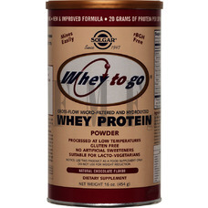 SOLGAR Whey to Go Protein Powder Σοκολάτα - 454 gr.
