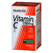 HEALTH AID Vitamin C 1500mg. with Bioflavonoids - 30 Tabs.
