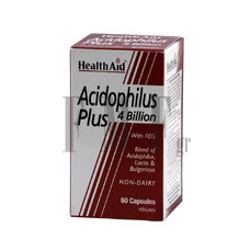 HEALTH AID Acidophilus Plus 4 bilion - 60 Caps.
