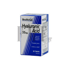 HEALTH AID Hyaluronic Acid 55mg - 30 Tabs.