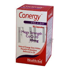 HEALTH AID Conergy COQ10 30mg - 30 Caps.
