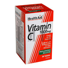 HEALTH AID Vitamin C 1000mg. with Bioflavonoids - 30 Tabs.
