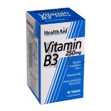 HEALTH AID Vitamin B3 250mg. - 90 Tabs.