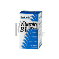 HEALTH AID Vitamin B1 100mg. - 90 Tabs.