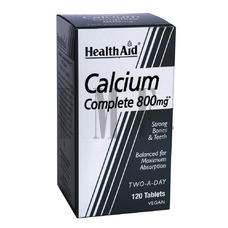 HEALTH AID Calcium Complete 800mg - 120 Tabs.