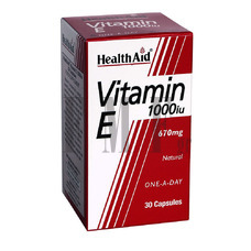 HEALTH AID Vitamin E 1000 IU - 30 Caps.