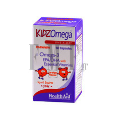 HEALTH AID Kidz Omega with Vitamins - 60 Caps.