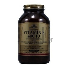 SOLGAR Vitamin E Natural softgels 400 IU - 250 Caps.