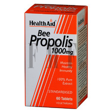 HEALTH AID Bee Propolis 1000mg - 60 Tabs.