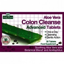 OPTIMA Aloe Vera Colon Cleanse Tablets - 30 Tabs