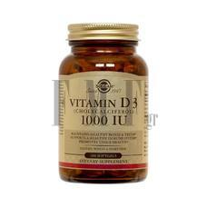 SOLGAR Vitamin D-3 1000IU - 100 Softgels