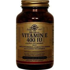 SOLGAR Vitamin E Natural softgels 400 IU - 100 Caps.