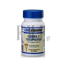 LIFE EXTENSION Gamma E Tocopherol - 60 Caps.