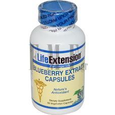 LIFE EXTENSION Blueberry Extract - 60 Caps.