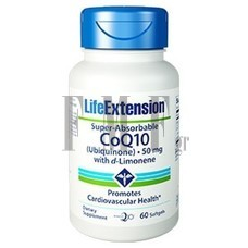 LIFE EXTENSION Super-Absorbable CoQ10 50mg - 60 Caps.