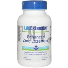 LIFE EXTENSION Zinc Lozenges - 75 Tabs.